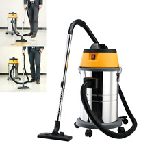 30L 1500W Wet And Dry Vacuum Cleaner Blower Stainless Steel Industrial Garage UK