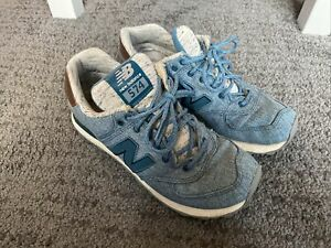 New Balance Womens 574 Trainers Blue Size 5