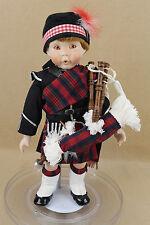 "16"" porcelain cloth Scottish doll IAN by Karen Scott Danbury Mint"