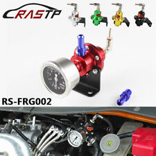 Universal Sport Adjustable Fuel Pressure Regulator FPR Turbo with Gauge Gunmetal