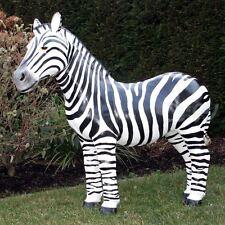 ZEBRA 95 cm Wildtiere Zoo Afrika GARTEN DEKO TIER FIGUR Skulptur schwarz weiß
