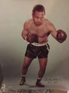 PRICE DROP Archie Moore boxing champ 16x20 inscribed photo w/COA extremely RARE