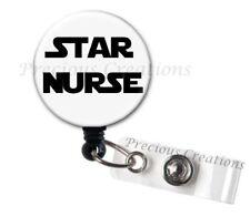Star Wars Theme ID Badge Reel Holder Clip Retractable RT Tech Nurse Xray