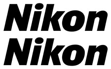 Pair of Nikon Decals, Logo, Vinyl Sticker, Camera, Photo, Dslr, For Case Outdoor