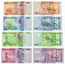 UGANDA 1000 2000 5000 10000 SHILLINGS SET 4 PCS 2010 2013 P-49 50 51 52 UNC