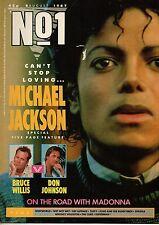 Michael Jackson on Magazine Cover 1987  Whitney Houston  Don Johnson Def Leppard