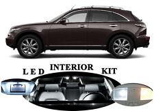 LED Package - Interior + License + Vanity + Reverse for Infiniti FX35 FX45