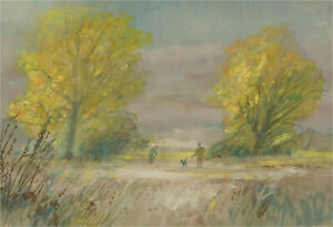 Keith Johnson (1931-2018) - 20th Century Gouache, Out with the Dog
