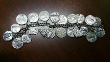WOODMEN of the WORLD Sterling Silver .925 Charms BRACELET Fob Pendant Chain