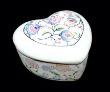 1985 Heart Floral Candle Trinket Box-AN AMERICAN LEGACY-Yale & Frances Forman