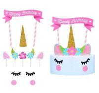 Unicorn Cake Cupcake Topper Decoration Birthday Party