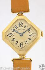 LIGA WATCH ART DECO DESIGN 18 KARAT GOLD DAMEN-ARMBANDUHR AUS DEN 30er JAHRE