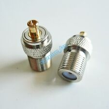 1x F TV Female Jack To MCX Male Plug RF Connector Straight F/M Adapter 75 Ohm
