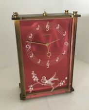 Vtg Jaeger Lecoultre Musical Alarm Clock Reuge Music Box Bird Skaters Waltz