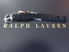 Polo RALPH LAUREN Anchor Wristband Black Strap Braided Band