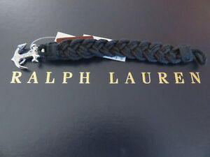 Polo RALPH LAUREN Anchor Wristband Black Strap Braided Band