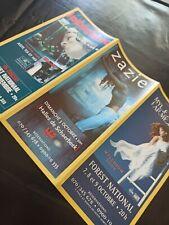 Mylène Farmer flyer concert 1999 Zazie, Indochine, Axelle red, the cranberries..