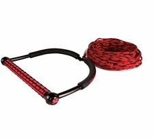 New Liquid Force Straight Line T9 Static Line Wakeboard Rope Handle Combo Red