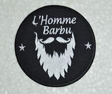 écusson , patch moto,motorbike biker ,; barbu ,9cm