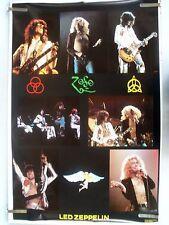 Rare Led Zeppelin 1980 Vintage Original Music Collage Poster