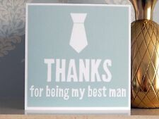 Thanks For Being My Best Man Card With Envelope (Wedding Thank You Cards UK)