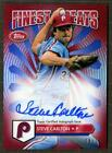 2014+Topps+Finest+Greats+Steve+Carlton+On+Card+Auto+Red+Refractor+%2F25+%23FGASC