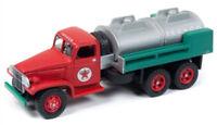 Texaco 1940's GMC 6X6 Tanker Red Green JOHNNY LIGHTNING DIE-CAST 1:87 HO