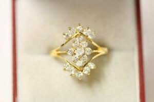 916/22ct sparkling attractive indian gold ring size M *Boxed*