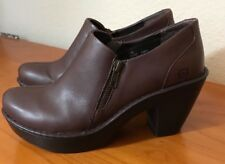 Women's Born Leather Zipper Clogs Shoes Heels Size 10M, W82527 CQH15