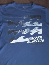 BILLABONG GHOST WAVE SURF / SKATE T-SHIRT INDIGO BLUE BLACK UNISEX T STUNNING