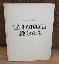 Numbered Robert Doisneau La Banlieu de Paris Gravure First ED Blaise Cendrars HC