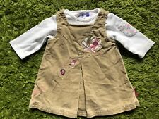 Jesper Conrad Baby Girl Outfit Bodysuit Beige Cord Dress 0 To 3 Months