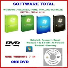 Windows 7 32/64 bit ALL VERSIONS Home Premium (PRO) Ultimate Disc Service Pack 1