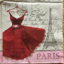 Decoupage Servilletas Vintage Napkins Paper Tissue Printed Paris Tower Wedding