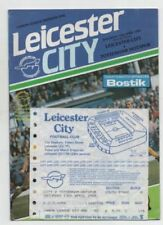 Leicester City Home Teams L-N Football Programmes with Match Ticket