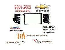 AI 2001-2012 CHEVY SILVERADO TAHOE SUBURBAN 2 DIN CAR STEREO INSTALL DASH KIT