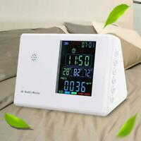 Air Quality Monitor PM2.5 CO2 HCHO TVOC CO2 AQI Detector Gas Analyzer with Clock