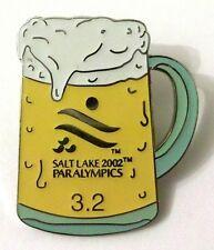 Pin Spilla Salt Lake City 2002 Paralympic Games - Beer Birra 3.2