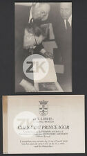 CHANT DU PRINCE IGOR Ex-Libris SOUPAULT Alexandre ALEXEÏEFF D'Ursel Photo 1950