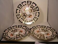 "3 Royal Crown Derby 2451 IMARI 8.5"" PIASTRE LATERALI"