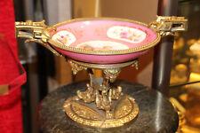 Sevres porcelain centerpiece bowl French antique 19th century 1849s Pink Sevres