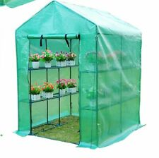 Greenhouse Polytunnel with Shelves Outsunny