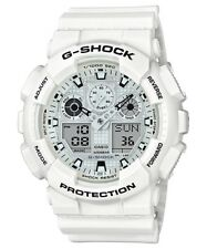 BRAND NEW CASIO G-SHOCK GA100MW-7A WHITE RESIN WORLD TIME ANA-DIGI WATCH NWT!!!