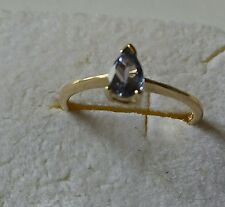 ANELLO SOLITARIO IN ORO GIALLO CON TANZANITE FANCY 0,35 CT. Sottocosto