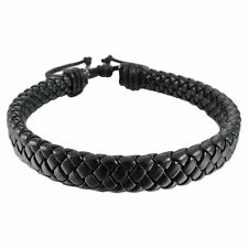 FASHION Men Bracelet Black Leather Woven Bracelet Male Casual Jewelry Hot Sell