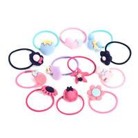 10Pcs/set Women Girl Hair Band Ties Rope Ring Elastic Hairband Ponytail Holder A