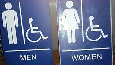 ADA Compliant Handicap  Restroom sighns Men and Women.