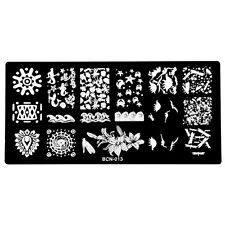 Manicure Stamping Template Nail Art Printing Konad Sea story Full Stars BCN13