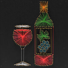 Red Wine String Art Crafts Kit, String Art Supplies, DIY Crafts for Adults