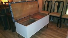Large, Locking, Seating Bench, Cedar Chest, Coastal or Country style.